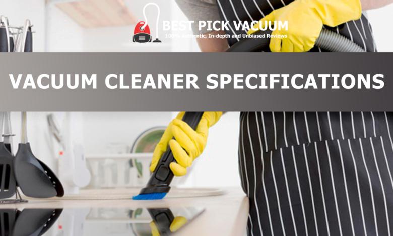 VACUUM-CLEANER-SPECIFICATIONS